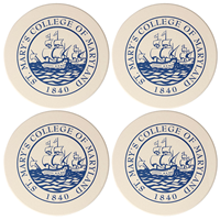 College Seal Coaster 4 Pack