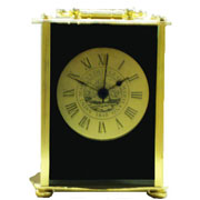 Clock 1877 Carriage Gold Box W/ Seal On Clock