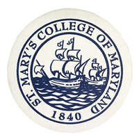College Seal Paper Coaster