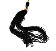 Tassel Plain Black