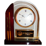 Clock Arched Glass Smcm W/ Seal