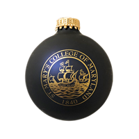 College Seal Blue Bulb Ornament