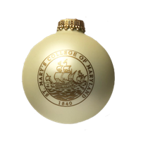 College Seal White Bulb Ornament
