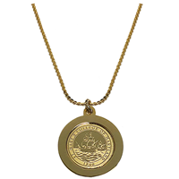 College Seal Pendant Necklace