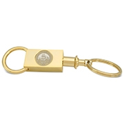 Key Ring Rectan Seal Gold Gold