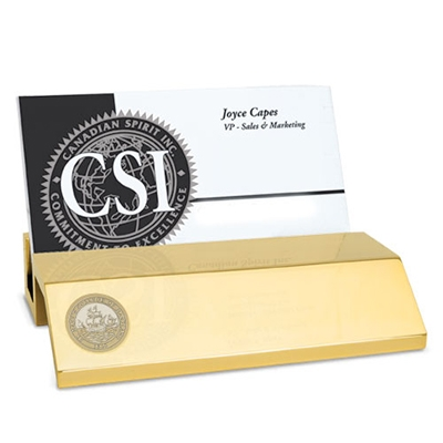 Business Card Holder Gold St Marys Campus Store