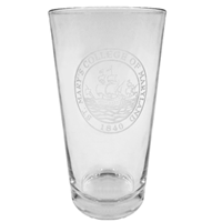College Seal Etched Pint Glass