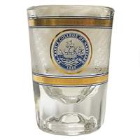 College Seal Shot Glass