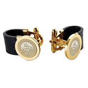College Seal Cufflinks With Black Strap