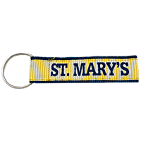 St. Mary's Striped Woven Keychain