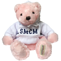 Sam Pink Bear With White Hoodie