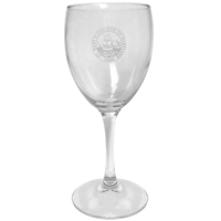 College Seal Wine Glass