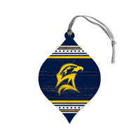 Striped Seahawk Teardrop Ornament
