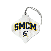 Smcm Wood Bulb Ornament