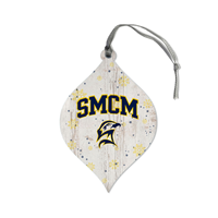 Smcm Snowflake Teardrop Ornament